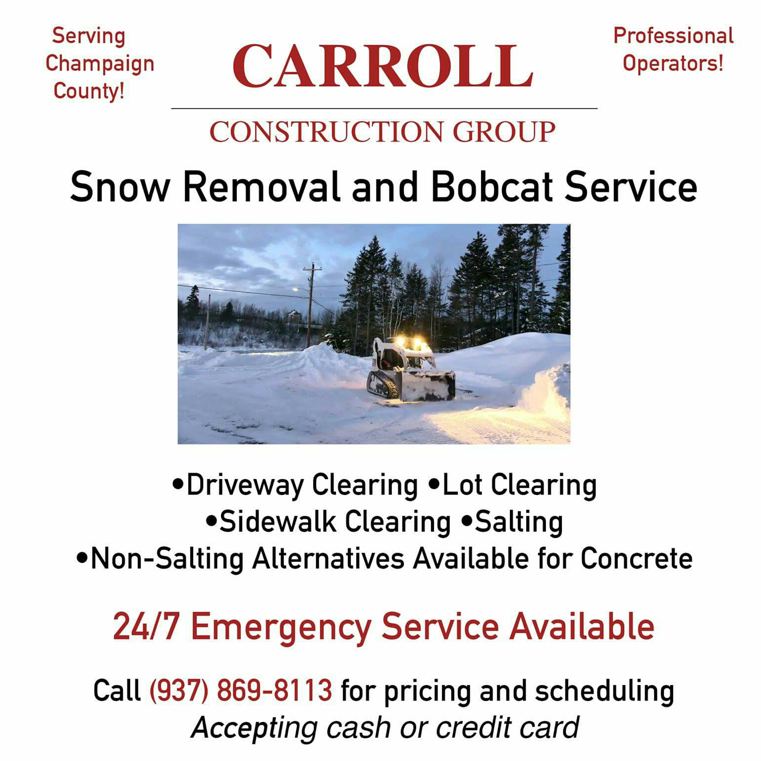 Snow Removal by Carroll Construction Group - Carroll Construction ...